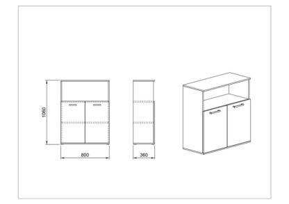Схема етажерка Гранд 82